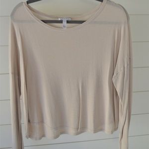 Leith Beige Long Sleeve Top
